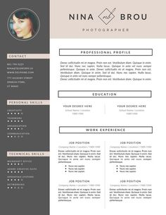 Creative Resume Template and Cover Letter Template by ThisPaperFox