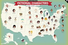 Who's the Most Popular Fictional Character From Your State? | Mental Floss