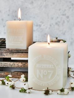 Square Embossed Candles