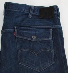 Men Levis Levi's 569 Loose Jeans Straight Leg Dark Wash 100% Cotton sz42 X 29 #Levis #LooseStraightLeg