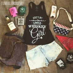 Super cute Whiskey Girl tank top featuring summer country outfit essentials by TumbleRoot. Perfect for every country music festival and concert like Stagecoach, CMA Fest, Faster Horses, and Boots and Hearts. // tumbleroot.com