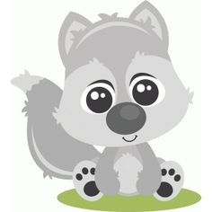 Silhouette Design Store: baby wolf