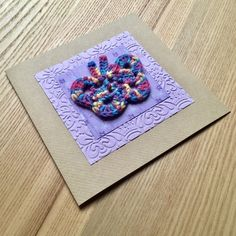 Purple and Rainbow Crochet Butterfly Greetings Card £2.75
