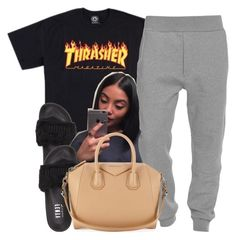 """""""Untitled #511"""" by princess-miyah ❤ liked on Polyvore featuring Puma, Acne Studios and Givenchy"""
