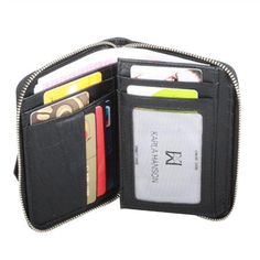 Karla Hanson - Black Women's Wallet - $49.99/each This Ladies Fashion Wallet is made from cow leather with a golden finish, approximately 13 x 2 x 9.5 cm. Presented by  www.ecomcreator.com Fashion Wallet, Ladies Fashion, Womens Fashion, Wallets For Women Leather, Cow Leather, Leather Wallet, Burgundy, Purple, Lady