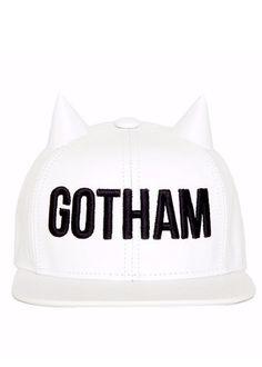 e7e7f99d797d4 Gotham White Horned Snapback Boné Aba Reta