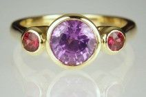 Just Gems - Gallery Purple Sapphire ring