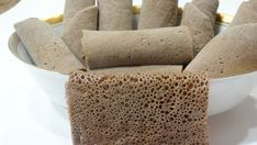 Fresh Injera bread - flatbread, gluten free, authentic berbere and other spices Ethiopian Bread, Ethiopian Injera, Injera Bread, Teff Bread, Ethiopian Restaurant, Bread Shop, Gluten Intolerance, Food Staples, Gluten Free Recipes