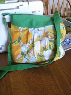My summer purse made from sheets.