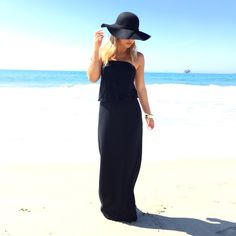 Until The End Strapless Jersey Maxi -BLACK