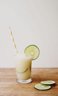 Toasted coconut vanilla limeade. Summer mocktail recipe.