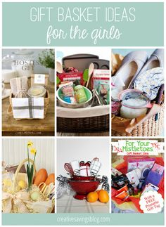 DIY Gift Basket Ideas for Everyone on Your List From hostess gifts, to spa and relaxation packages, you will love these creative gift basket ideas for her! Creative Gift Baskets, Diy Gift Baskets, Creative Gifts, Raffle Baskets, Creative Birthday Ideas, Birthday Ideas For Her, Easy Gifts, Homemade Gifts, Cute Gifts