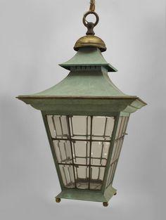English Georgian lighting lantern copper