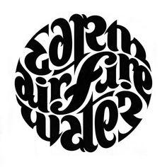 Ambigram element