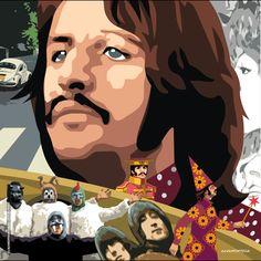 Ringo & the Beatles Beatles Funny, Beatles Art, The Beatles, Norman Rockwell, Monet, The Quarrymen, John Lennon Paul Mccartney, The Fab Four, Classic Rock