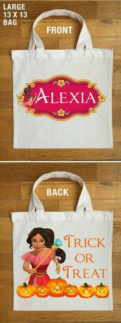 Elena of Avalor Trick or Treat Bags - Personalized Princess Elena