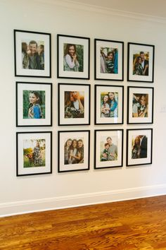gallery wall on display! Family gallery wall on display! Family gallery wall on display! Change pictures in seconds! 💡 Just lift and switch ↩ with QIK FRAME Individual metal words By wisdom a house is built.