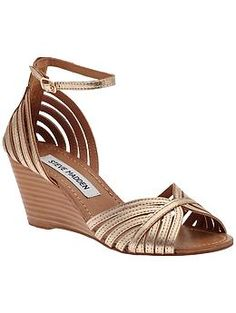 definitely casual but a possibility for bridesmaid shoes? wedges for the sand