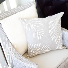 The Bracken (cream) cushion cover features a cream print on taupe European Linen. The elegant design is hand printed on eco-friendly, high quality fabric that is designed for longevity and a little bit of luxury. Each cushion cover measures 45cm x 45cm and has an invisible zip closure. Lovingly handmade by Deborah Devaal Design.Due to the natural nature of European Linen and the process of screen printing by hand, there may be slight variations in the fabric and print. This make...