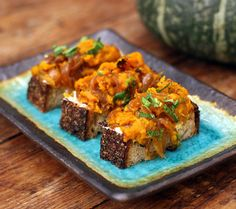 Recipe: Squash on toast with ricotta || Photo: Matthew Orr/The New York Times
