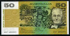 50 Australian dollars banknote of 1991, issued by the Reserve Bank of Australia. Australian banknotes, Australian paper money, Australian bank notes, Australia banknotes, Australia paper money, Australia bank notes