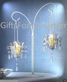 Tabletop mini chandelier ce table centerpiece 1345 wedding 5 wedding hanging candles centerpieces 17 tall nib aloadofball Images
