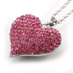 Big Love Pink Heart Valentine's Day Pendant Necklace Charm Rhinestones Ladies Women Fashion Jewelry Silver Tone Soulbreezecollection,http://www.amazon.com/dp/B00B08LPH8/ref=cm_sw_r_pi_dp_3Ye8rb1S4W0RP8GT