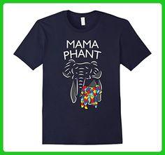 Mens Autism Awareness Mamaphant  Mama Elephant Birthday Shirt 3XL Navy - Birthday shirts (*Amazon Partner-Link)