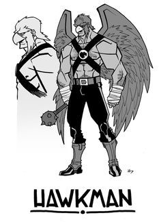 Hawkman by ~Zeigler on deviantART. Love that he doesn't have wings on his helmet! He looks a lot more like a hawk this way. Character Art, Character Design, Star Fox, Hawkgirl, Comic Art, Comic Book, Geek Culture, Character Illustration, Art Reference