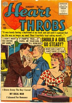 1956 Heart Throbs Romance comic...I used to buy these as a young teen :)