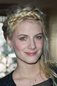 Melanie Laurent and her braid hair