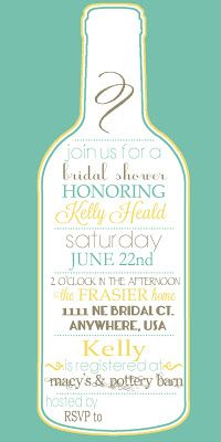 Wine Theme Bridal Shower invitation