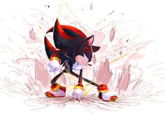 shadow the hedgehog by chickenramendevi on DeviantArt Shadow The Hedgehog, Sonic The Hedgehog, Silver The Hedgehog, Sonamy Comic, Shadow And Amy, Sonic Franchise, Sonic Heroes, Sonic And Amy, Sonic Fan Characters