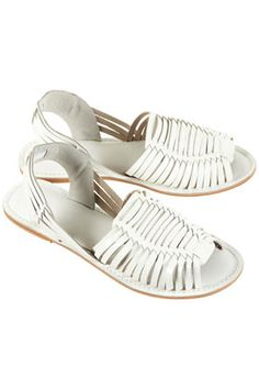 FUSION WOVEN LEATHER SANDALS