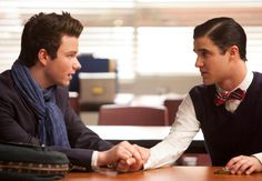 "Klaine! Kurt and Blaine in the ""Goodbye"" episode. Original Air Date 5/22/2012"