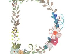 I Floral Letter Print Typography Illustration by Makewells