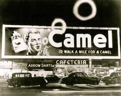 The Smoking Billboard  Camel ad Times Square