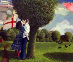 Lovers Near Kew Gardens - David Inshaw.