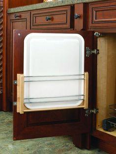 "Rev-A-Shelf 4DMCB-18P 4DMCB Series Door Mount Polyethylene Cutting Board for 18"" Natural Wood Accessory Cutting Board Synthetic"