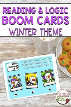 These Boom Cards are perfect for reading comprehension and logic practice for elementary students. Students read three clues and choose the correct answer. Self-correcting with engaging pictures and clues.