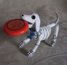 One Day of the Dead Custom Miniature Pet Tribute Altar Animal Skeleton Dog, Cat, or..... $40.00, via Etsy.