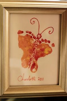 adorable foot print idea!