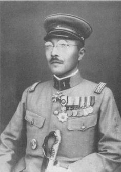 "At the time of this photo Hideki Tojo was commander of the Kempeitai of the Kwangtung Army in Manchuria. Tōjō's nickname was ""Razor"" (Kamisori), earned for his reputation for a sharp, legalistic mind capable of making quick decisions. in 1937 Tōjō was promoted to Chief of Staff of the Kwangtung Army. As Chief of Staff, Tōjō was responsible for various military operations to increase Japanese penetration into the Mongolia and Inner Mongolia border regions with Manchukuo."