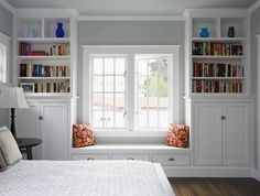Window seat AND built in bookcases.!!!!