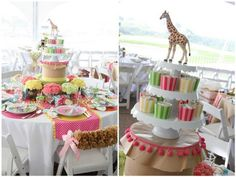 cover existing hat boxes with paper and trim to create extra heights on centerpiece table