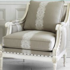 Love the lace on this chair