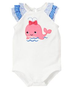 Whale Ruffle Bodysuit - Gymboree. Want every outfit.