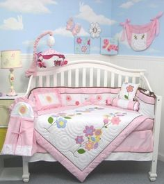 $159.99-$159.99 Baby This Set Fits all Toddler Beds and Cribs (Single or Convertible) (USA, UK, AU, Etc..) The Set includes following 10 pieces: * Hand Embroidery Crib Quilt * Hand Embroidery Crib Bumper * Fitted Sheet * Crib Skirt (Dust Ruffle) * 2 pieces of Window Valances * Diaper Stacker * Toy Bag * Baby Pillow * Baby mittens or Baby Bib.   We also included the 3 pcs Diaper Bag with Changing  ...