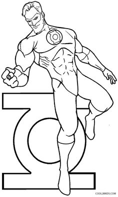 Green Lantern coloring pages for kids printable free Coloring