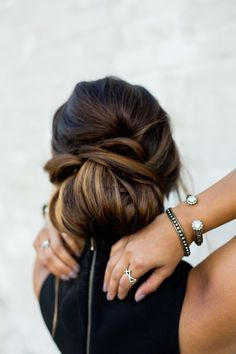 holiday hairstyles, braided updo, ombre hair, updo hairstyles, braided hairstyles, haute off the rack, fur coat, ombre fur coat, @lorenhope jewelry, little black dress, vintage jewelry, hairstyles, braided hairstyle how-to, fashion blogger, holiday party style, women's fashion, beauty, over the knee boots,